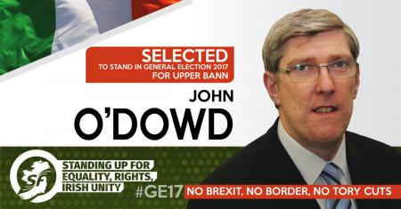 John O'Dowd selected to contest #GE17 for Sinn Féin in Upper Bann